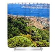 Messina Strait - Italy Shower Curtain by Silvia Ganora