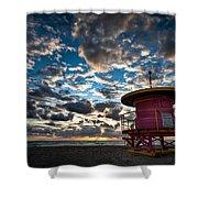Miami Dawn Shower Curtain by Dave Bowman