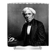 Michael Faraday, English Physicist Shower Curtain by Photo Researchers