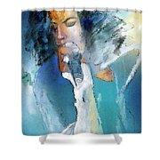 Michael Jackson 04 Shower Curtain by Miki De Goodaboom