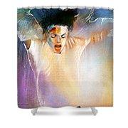 Michael Jackson 09 Shower Curtain by Miki De Goodaboom