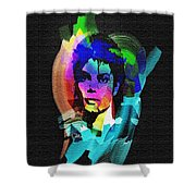 Michael Jackson Shower Curtain by Mo T