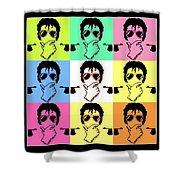 Michael Jackson Pop Shower Curtain by Paul Van Scott