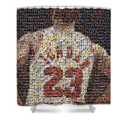 Michael Jordan Card Mosaic 2 Shower Curtain by Paul Van Scott