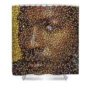 Michael Jordan Money Mosaic Shower Curtain by Paul Van Scott