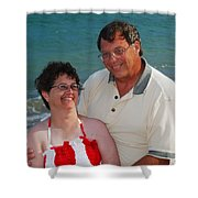 Michael  Peychich And His Sweetheart Shower Curtain by Michael Peychich
