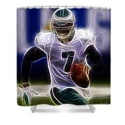 Michael Vick - Philadelphia Eagles Quarterback Shower Curtain by Paul Ward