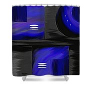 Midnight Shower Curtain by Ely Arsha