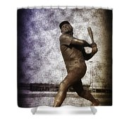 Mike Schmidt - Philadelphia Phillie Shower Curtain by Bill Cannon
