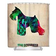 Miniature Schnauzer Poster 2 Shower Curtain by Naxart Studio