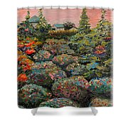 Minnesota Memories Shower Curtain by Nadine Rippelmeyer
