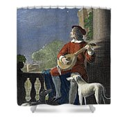 Minstrel, 19th Century Shower Curtain by Granger