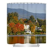 Mirror Lake Shower Curtain by David Lee Thompson