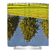 Mirroring Trees Shower Curtain by Heiko Koehrer-Wagner