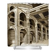 Mithlond Gray Havens Shower Curtain by Curtiss Shaffer