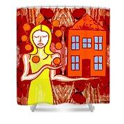 Modern Woman Shower Curtain by Patrick J Murphy