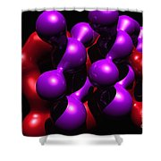 Molecular Abstract Shower Curtain by David Lane