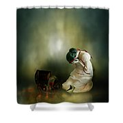 Momento Shower Curtain by Mary Hood