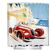 Monaco Grand Prix 1937 Shower Curtain by Nomad Art And  Design