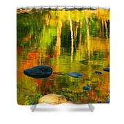 Monet Autumnal Shower Curtain by Aimelle