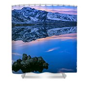 Mono Lake Twilight Shower Curtain by Inge Johnsson