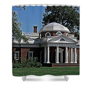 Monticello Shower Curtain by DigiArt Diaries by Vicky B Fuller
