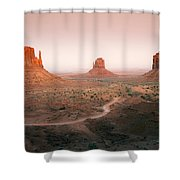 Monument Dusk Shower Curtain by Mike  Dawson