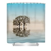 Moody Trees Shower Curtain by Jean Noren