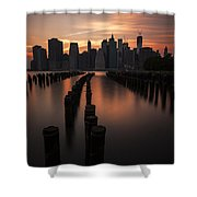 Mooring Eve Shower Curtain by Andrew Paranavitana