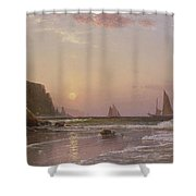 Morning At Grand Manan Shower Curtain by Alfred Thompson Bricher