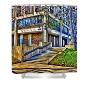 Morning Before Business Shower Curtain by Stephen Younts
