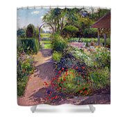 Morning Break In The Garden Shower Curtain by Timothy Easton