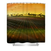 Morning Has Broken Shower Curtain by Holly Kempe