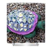 Mosaic Turtle Shower Curtain by Jamie Frier