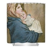 Mother And Child Shower Curtain by English School