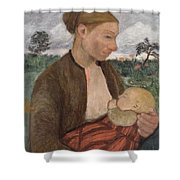 Mother And Child Shower Curtain by Paula Modersohn Becker