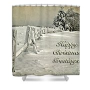 Mother Nature's Christmas Tree Card Shower Curtain by Lois Bryan