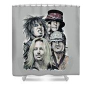 Motley Crue Shower Curtain by Melanie D