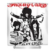 Motley Crue No.01 Shower Curtain by Caio Caldas