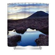 Mount Errigal, County Donegal, Ireland Shower Curtain by Gareth McCormack
