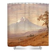 Mount Hood Shower Curtain by Albert Bierstadt