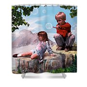 Mount Innocence Shower Curtain by Steve Karol
