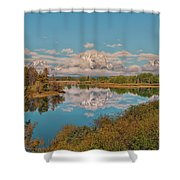Mount Moran On Oxbow Bend Shower Curtain by Brian Harig