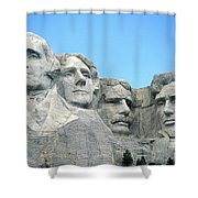 Mount Rushmore Shower Curtain by American School