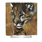 Mountain Lion - Guardian Of The North Shower Curtain by J W Baker