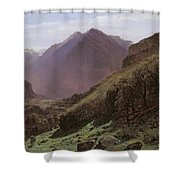 Mountain Study Shower Curtain by Alexandre Calame