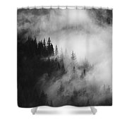 Mountain Whispers Shower Curtain by Mike  Dawson