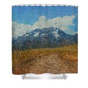 Mountains In Puru Shower Curtain by David Lane