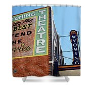 Movie Sign 1 Shower Curtain by Marilyn Hunt