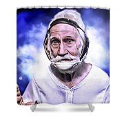 Mr. Joseph Blue Pulaski Shower Curtain by Nicholas  Grunas